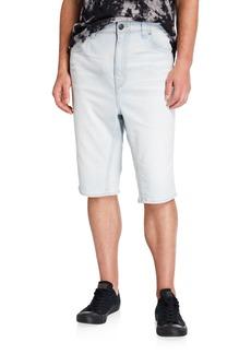 True Religion Men's Macho Optical Water Denim Shorts