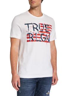 True Religion Men's Painted Flag-Graphic T-Shirt