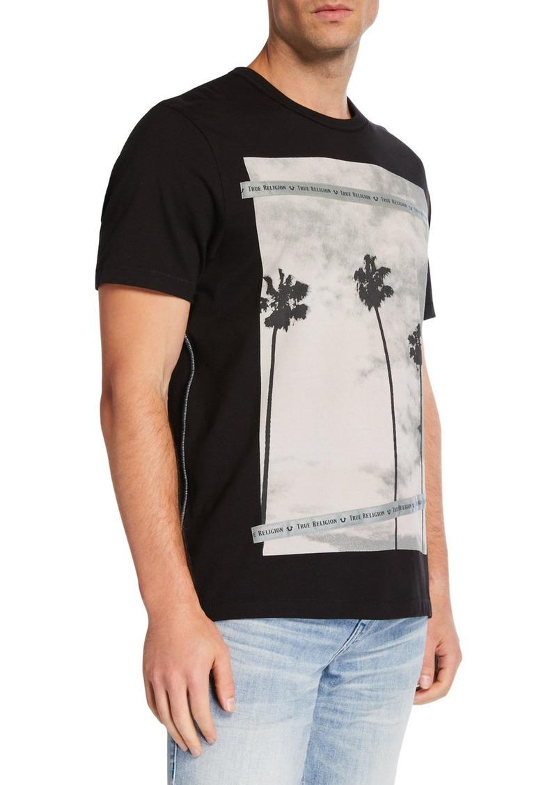 True Religion Men's Palm Tree Graphic T-Shirt
