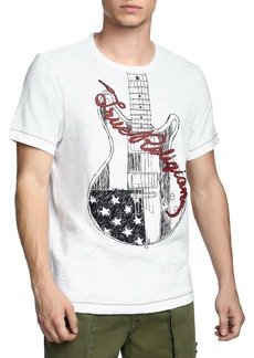 True Religion Men's Puff Guitar Logo T-Shirt