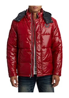 True Religion MENS QUILTED PUFFER JACKET W/ HOOD