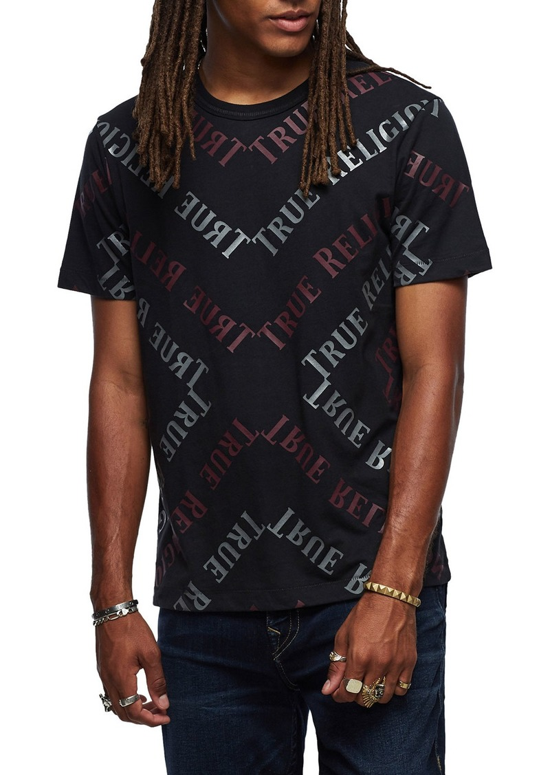 True Religion Men's Reflective Logo Graphic T-Shirt