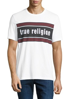 True Religion Men's Retro Logo-Stripe T-Shirt