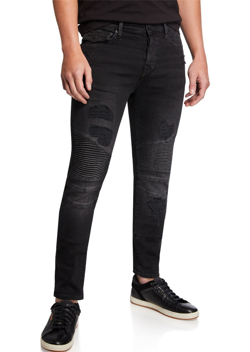 True Religion Men's Rocco Moto Combat Jeans