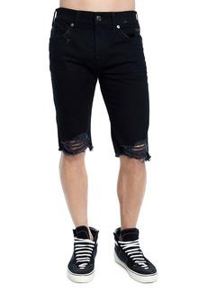 True Religion Men's Rocco Skinny Distressed Denim Shorts