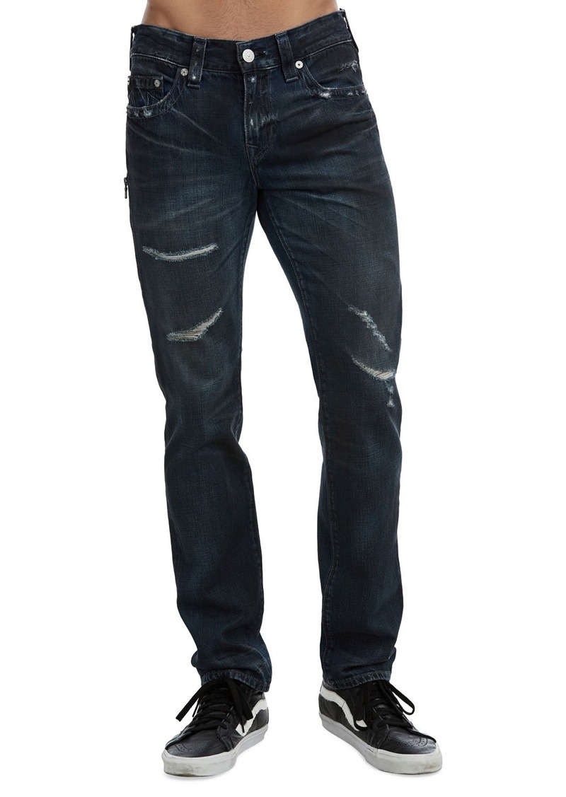 True Religion Men's Rocco Slim Midnight Storm Jeans