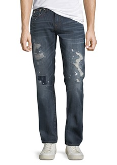 True Religion Men's Straight-Leg Paint-Splatter Jeans