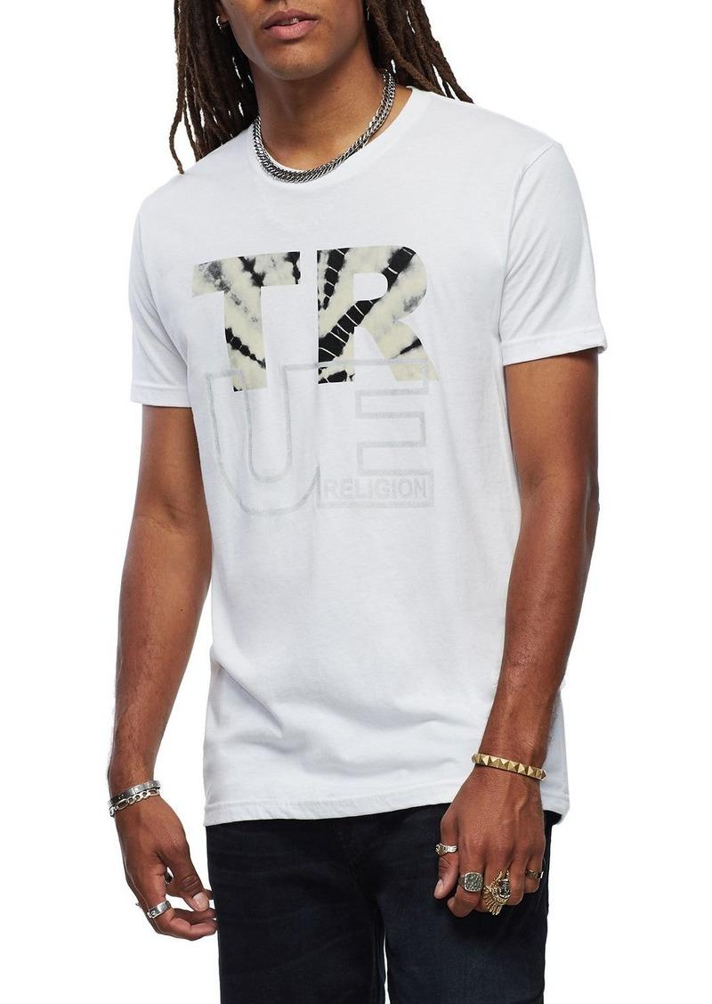True Religion Men's Tie-Dye Logo Graphic T-Shirt