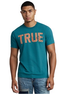 True Religion MENS TRUE LOGO GRAPHIC TEE