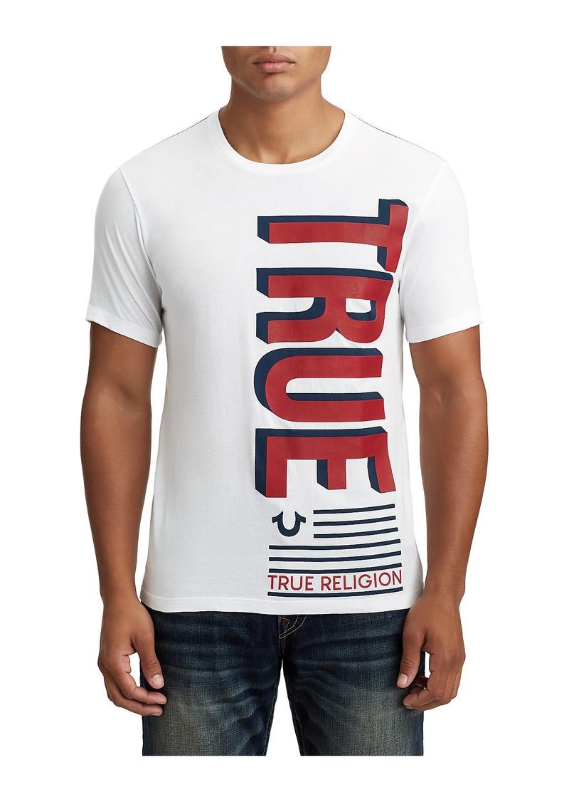 a7ff4fa0 SALE! True Religion MENS TWO TONE FLAG GRAPHIC TEE
