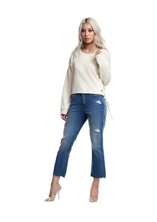 True Religion MESH BACK LACE UP TOP