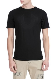True Religion Mesh Buddha Face Graphic T-Shirt