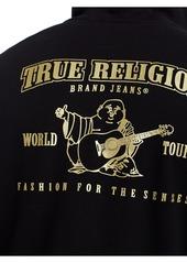True Religion METALLIC DOUBLE PUFF MENS HOODIE