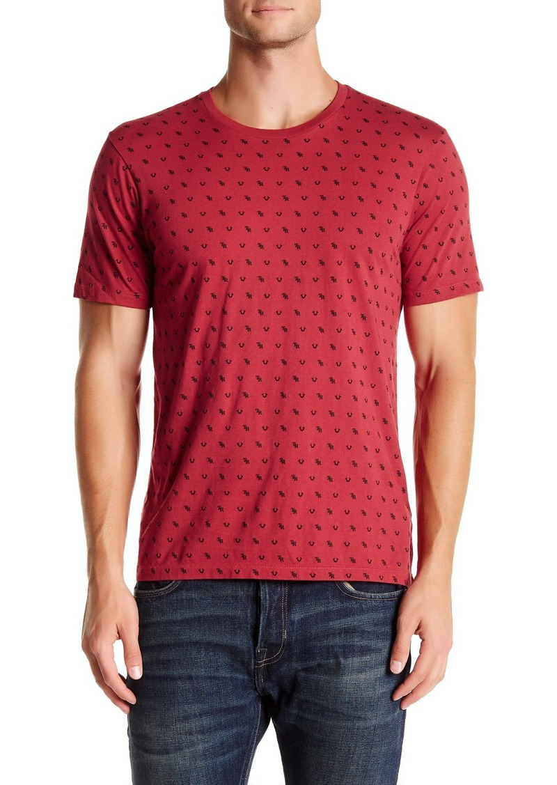 True Religion Monogram Crew Neck Graphic T-Shirt