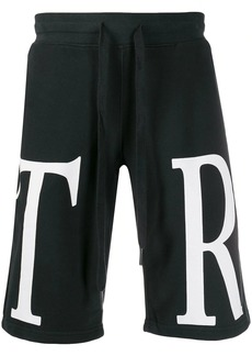 True Religion monogram logo track shorts