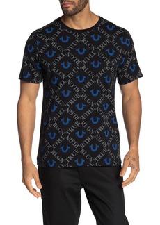 True Religion Monogram Print Short Sleeve T-Shirt
