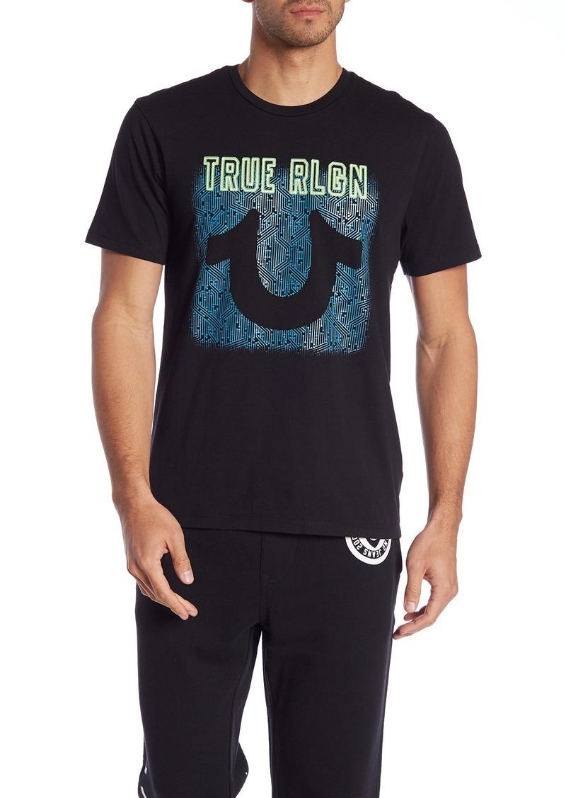 True Religion Neon U Crew Neck Tee