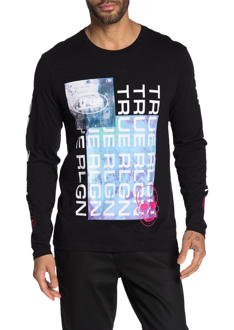 True Religion New Fashion Graphic Print Long Sleeve T-Shirt