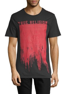 True Religion Painted Buddha Cotton Crew Tee