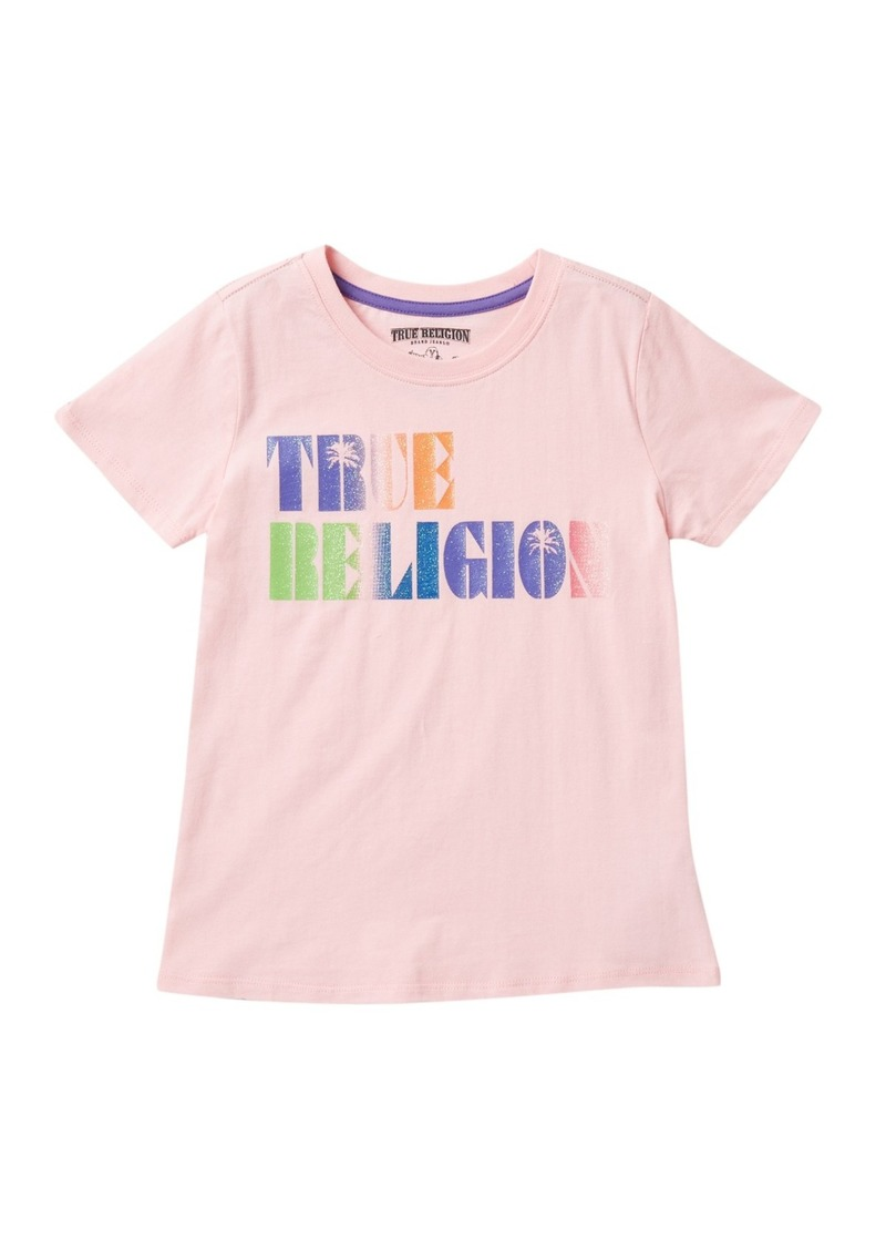True Religion Palm Tree Know Out T-Shirt (Big Girls)