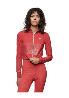True Religion PERFORMANCE SHIMMER CROP JACKET