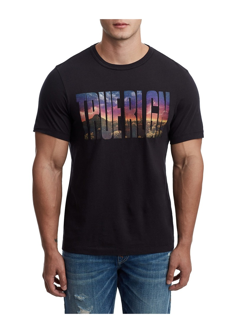 True Religion PHOTOREAL EMBROIDERED TEE