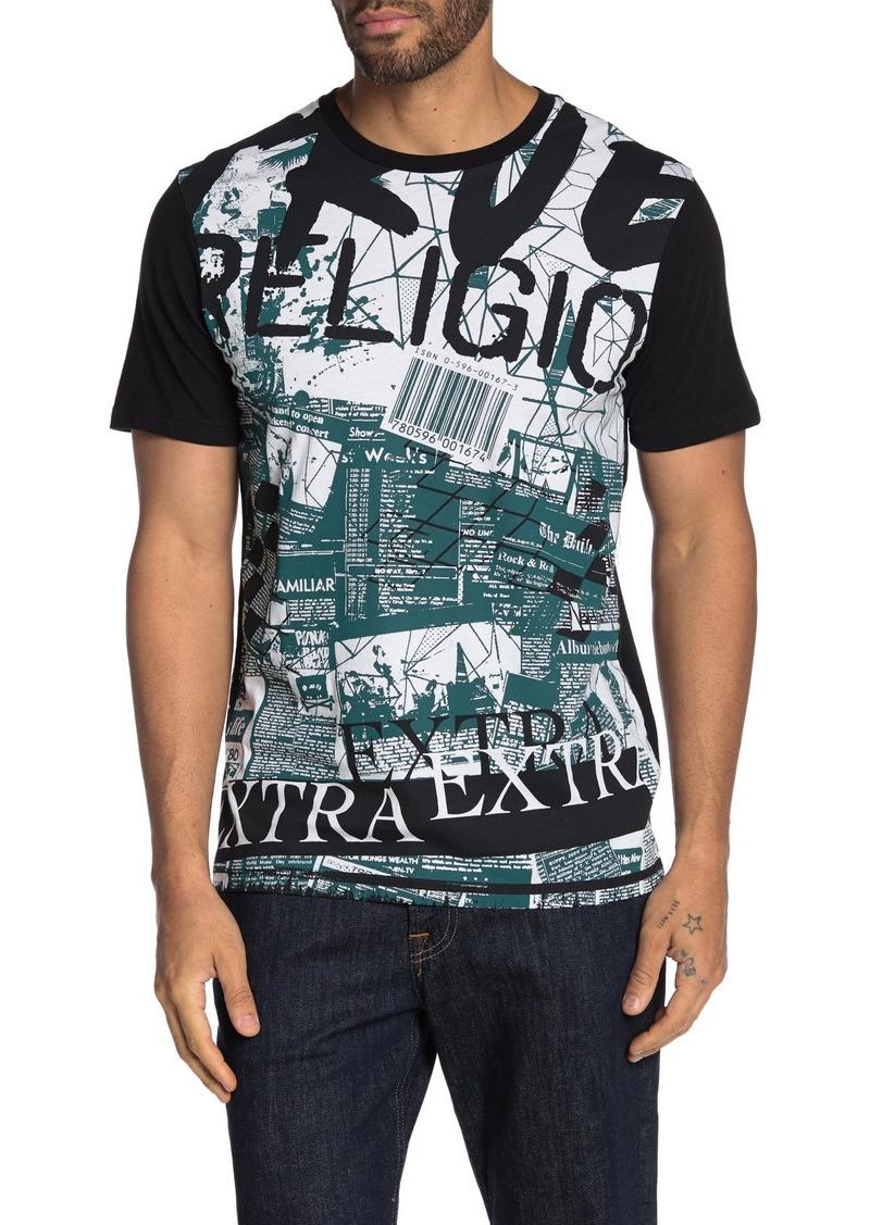 True Religion Plaster Graphic Print Short Sleeve T-Shirt