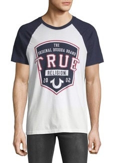 True Religion Pop Fly Raglan-Sleeve Cotton Tee