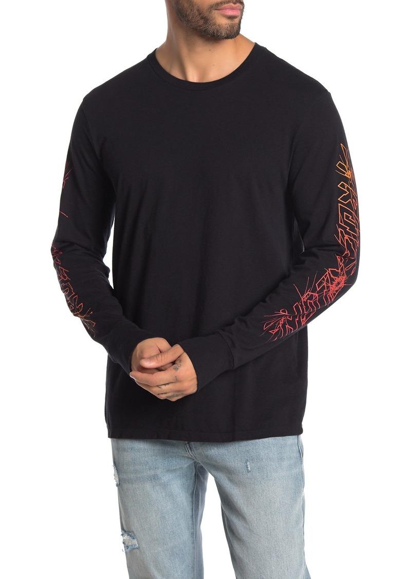 True Religion Printed Sleeve Crew Neck T-Shirt