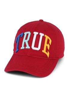 True Religion Rainbow Embroidered Baseball Cap