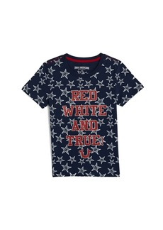 True Religion RED WHITE AND TRUE TEE