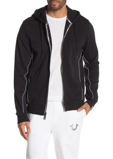 True Religion Reflective Trim Zip-Up Hoodie