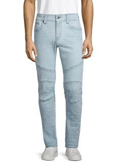 True Religion Relaxed Skinny Moto Jeans