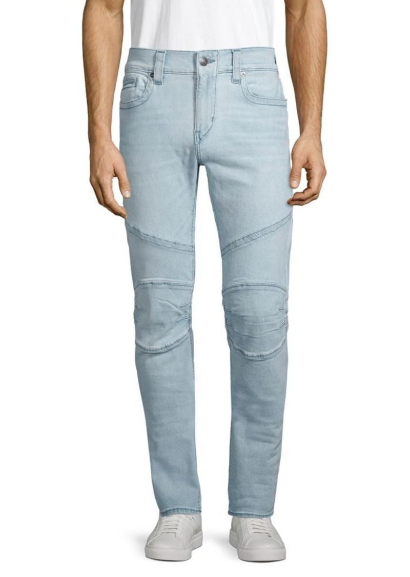 True Religion Relaxed Skinny Moto Jeans