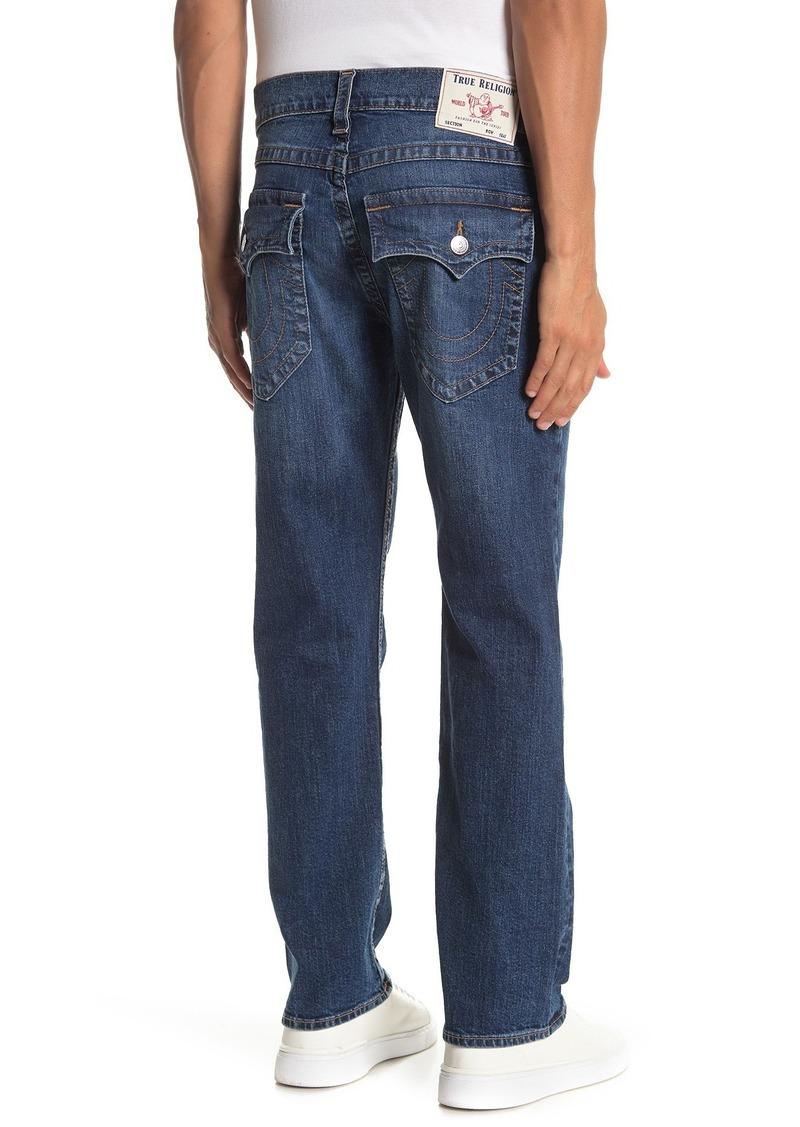 "True Religion Ricky Flap Pocket Relaxed Straight Leg Jeans - 30"" Inseam"