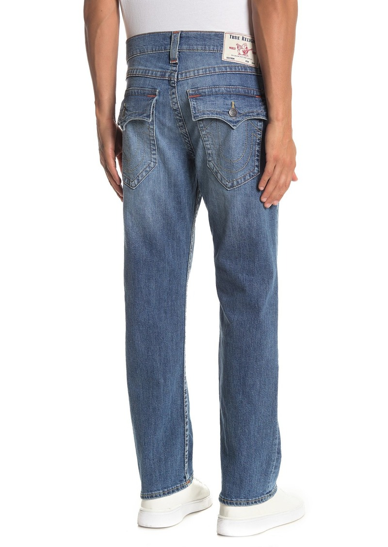 "True Religion Ricky Flap Pocket Relaxed Straight Leg Jeans - 30"" Inseam"