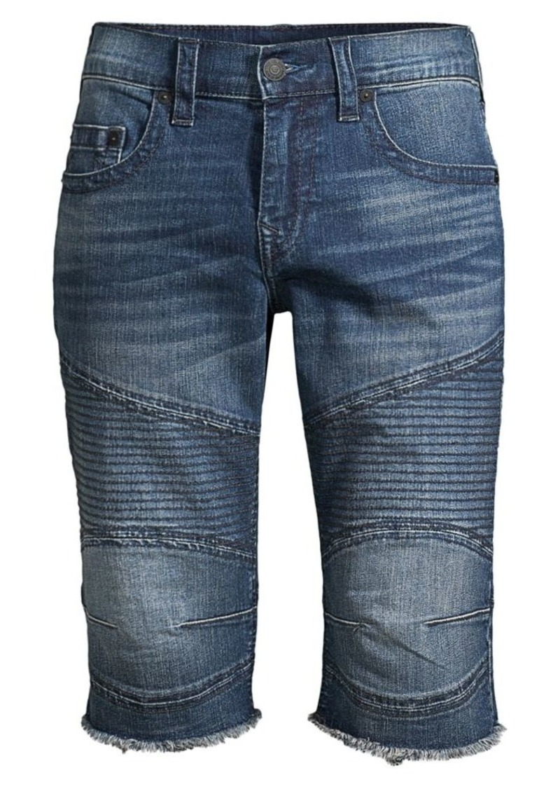 True Religion Ricky Moto Denim Shorts