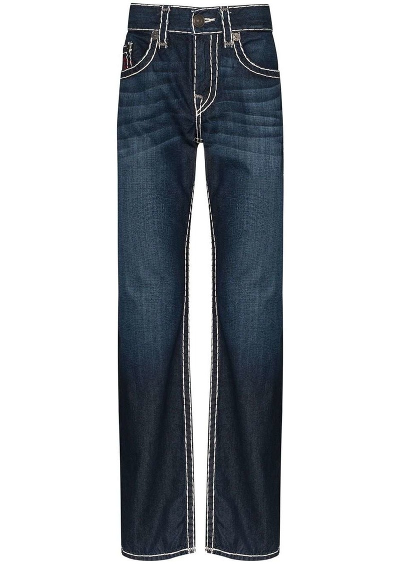 True Religion Ricky Super T contrast-stitch jeans