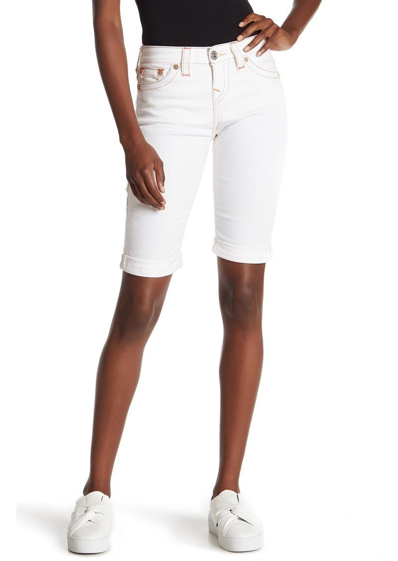 True Religion Riley Knee Length Denim Shorts