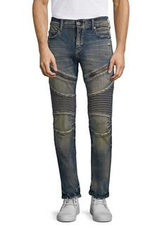 True Religion Rocco Moto Combat Slim-Fit Jeans