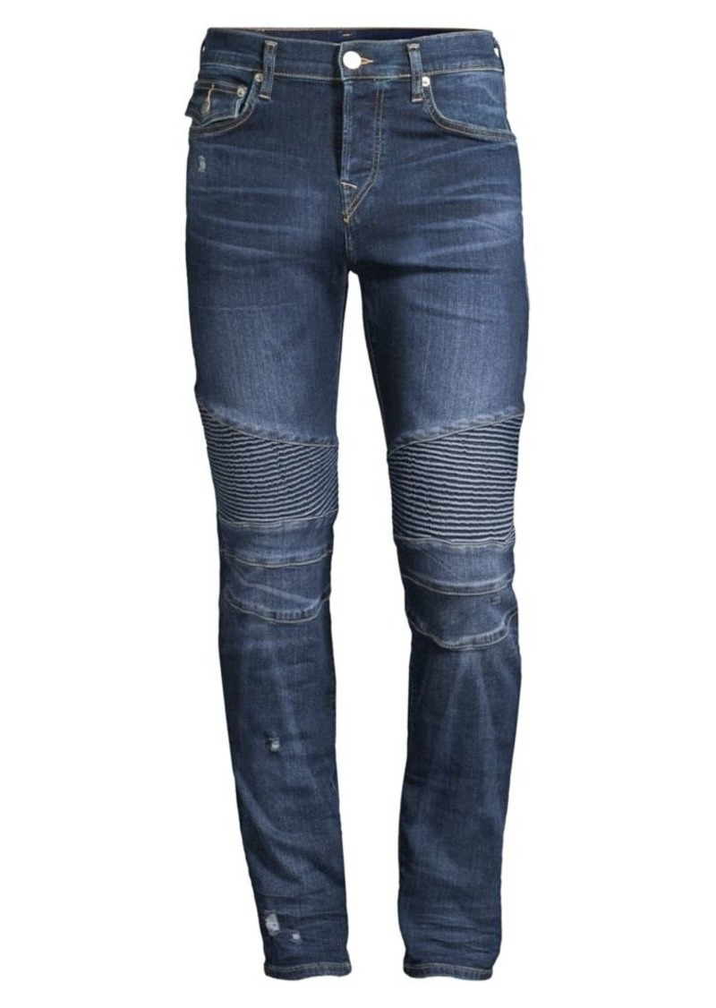 True Religion Rocco Moto Super Stretch Jeans