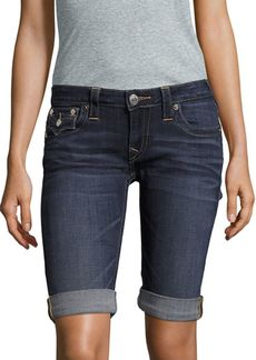 Roll-Up Denim Shorts