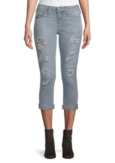 True Religion Rolled Capri Jeans