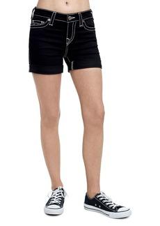 True Religion Rolled-Cuff Shorts w/ Contrast Stitching
