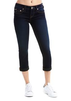 True Religion Rolled Dark Capri Jeans