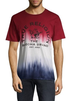 True Religion Short-Sleeve Ombre Cotton Tee