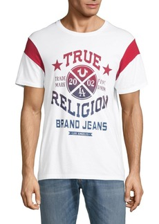 True Religion Short-Sleeve Printed Cotton Tee