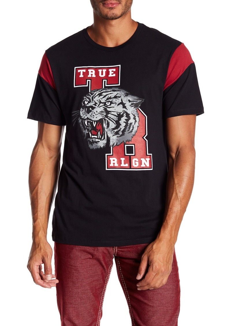 True Religion Short Sleeve School Tiger Football Tee
