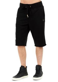 True Religion Solid Cotton Sweat Shorts