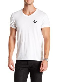 True Religion Solid Logo V-Neck T-Shirt